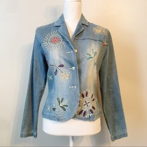 Vintage Clio Denim Embroidered Jacket